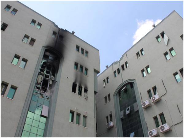 L'hôpital al-Wafa, le 19 juillet 2014