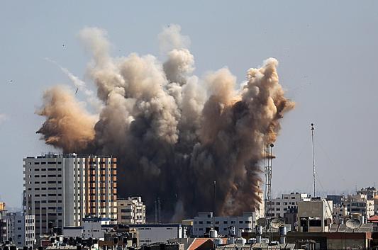 Une frappe aérienne israélienne dans le nord de Gaza en réponse aux tirs de roquettes palestiniens