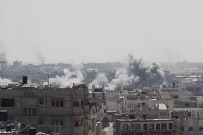 Frappe israélienne à Rafah le 1er août 2014