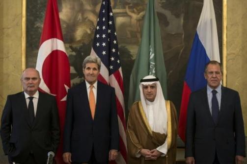 Réunion de chefs de la diplomatie à Vienne le 23 octobre 2015 au sujet de la Syrie.