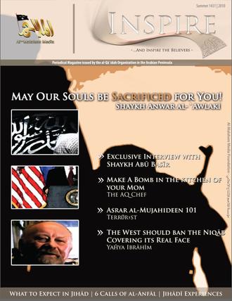 Inspire, le magazine en ligne d'AQPA, force associée à Al-Qaïda