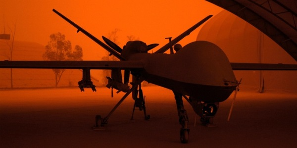 Reaper Sandstorm An MQ-9 Reaper sits in a hanger during a sandstorm at Joint Base Balad, Iraq, Sept. 15. Airman 1st Class Jason Epley